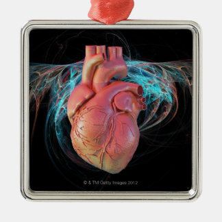Human heart, computer artwork. christmas ornament