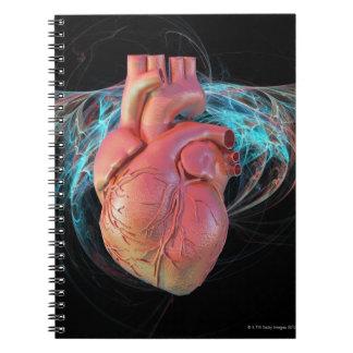 Human heart, computer artwork. notebook