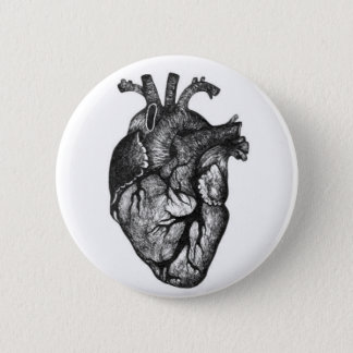 Human Heart Drawing Button