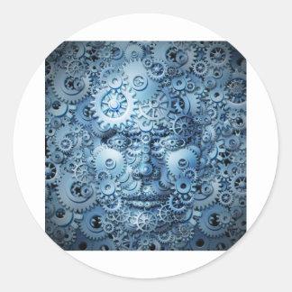 Human-Intelligence-And-Creativity.jpg Round Sticker
