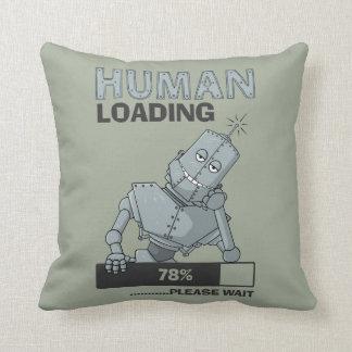 Human Loading, Please Wait Throw Pillow
