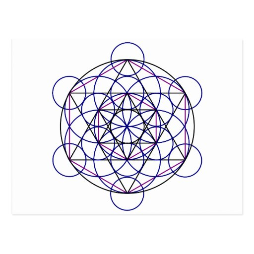 Human Merkaba Energy Field from our 7 Chakras Postcard