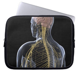 Human Nervous System Laptop Sleeves