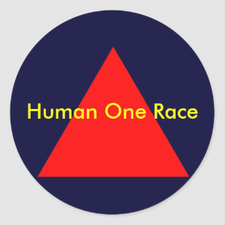 Human One Race The MUSEUM Zazzle Gifts Stickers