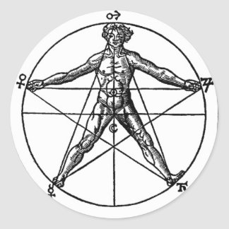 Human Pentacle Sticker