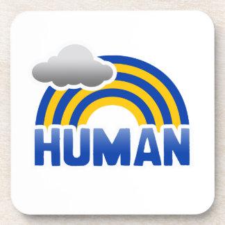 HUMAN RAINBOW BEVERAGE COASTERS