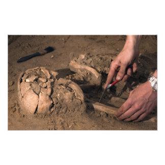 Human remains photo print