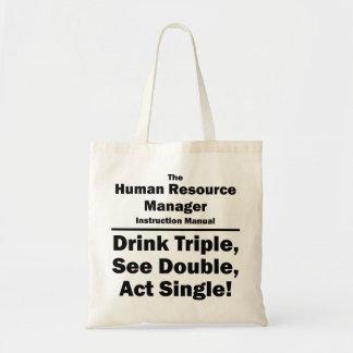 human resource manager budget tote bag