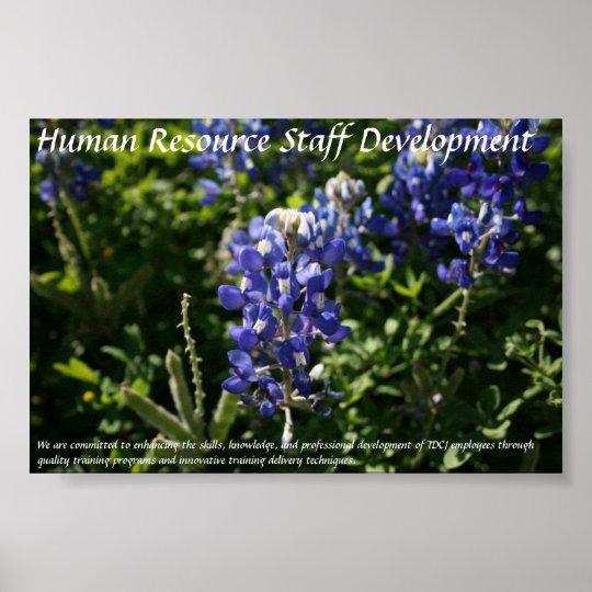 Human Resource Staff Development Blue Bonnets Poster