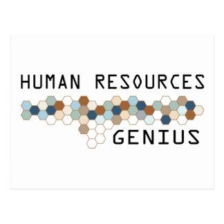 Human Resources Genius Post Cards