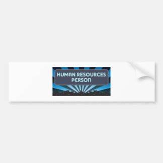 Human Resources Person Marquee Bumper Stickers