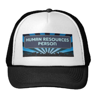 Human Resources Person Marquee Hats