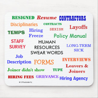 Human Resources Swear Words Annoying Funny HR Mouse Mat