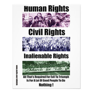 HUMAN RIGHTS, CIVIL RIGHTS, INALIENABLE RIGHTS, 11.5 CM X 14 CM FLYER