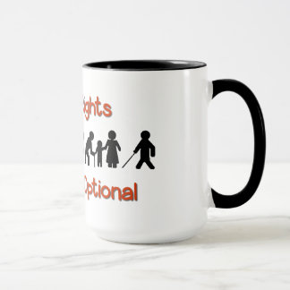 Human Rights Equality Disability Protest Mug Cup