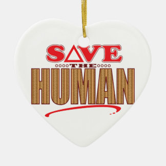 Human Save Christmas Ornament