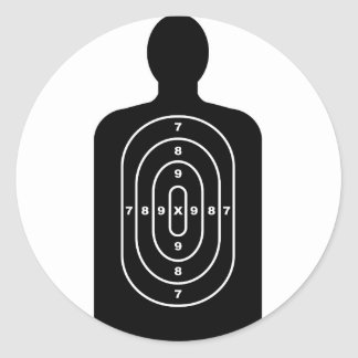 Human Shape Target Classic Round Sticker