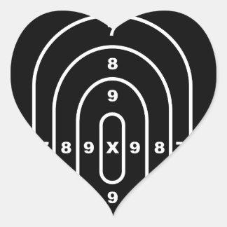 Human Shape Target Heart Sticker