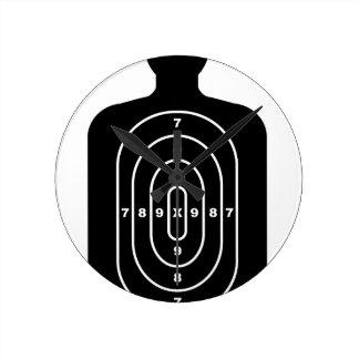 Human Shape Target Round Clock