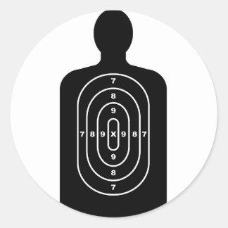Human Shape Target Round Sticker