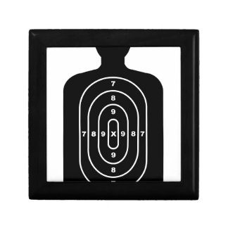Human Shape Target Small Square Gift Box