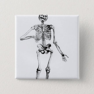 Human Skeleton 15 Cm Square Badge