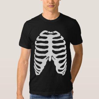 Human Skeleton Ribcage white T-shirts