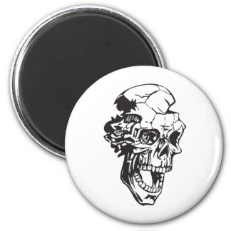 Human Skull 147 6 Cm Round Magnet