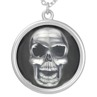 Human Skull Black Necklace