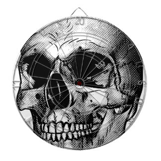Human Skull Drawing Dart Boards