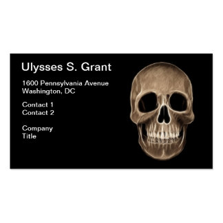 Human Skull Halloween X-Ray Skeleton Pack Of Standard Business Cards