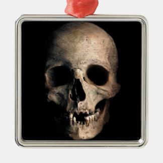 Human Skull Head Face Christmas Ornament