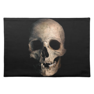 Human Skull Head Face Placemat