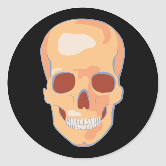 Human Skull Pop Art Classic Round Sticker