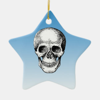 Human Skull White Face Christmas Ornament