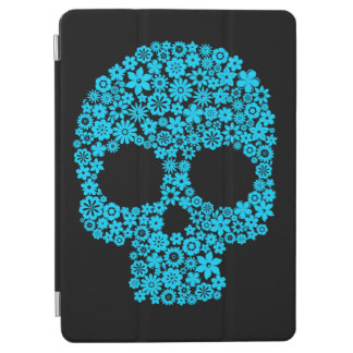 Human Skull With Flower Elements iPad Air Cover