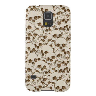 Human skulls background galaxy s5 cases
