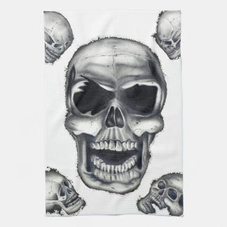 Human Skulls White Kitchen Towels