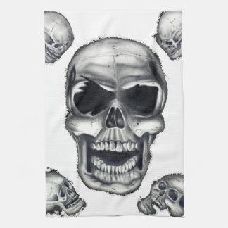 Human Skulls White Kitchen Towels