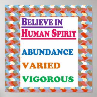 HUMAN Spirit:  Abundance Varied Vigourous Yoga Poster