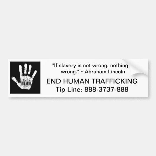 Human Trafficking Tip Line Bumper Sticker