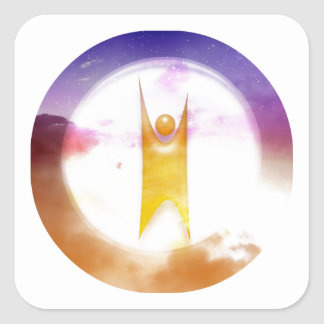 Humanism Symbol Square Sticker