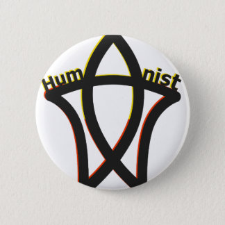 Humanist 6 Cm Round Badge