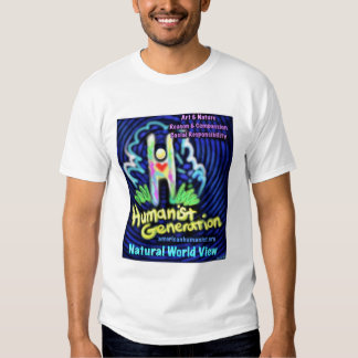 Humanist T-shirt (fun, colorful design)