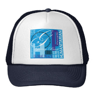 Humanitarian Blue Graffiti Hat
