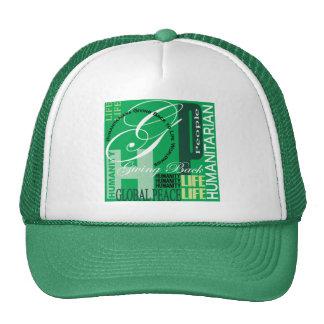 Humanitarian Green Graffiti Hat