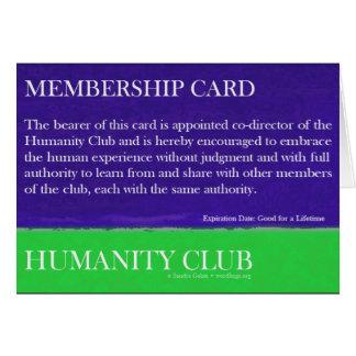 Humanity Club Greeting Card