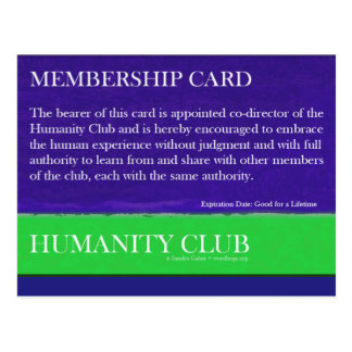 Humanity Club Post Card