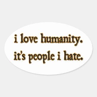Humanity Oval Sticker