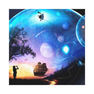 Humanity's Farthest Journey Stretched Canvas Prints